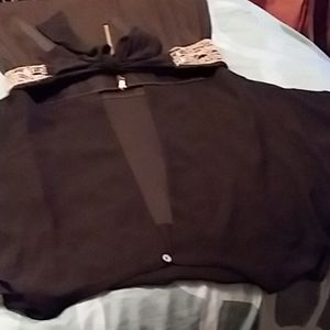 XOXO Black satin/lycra cocktail dress
